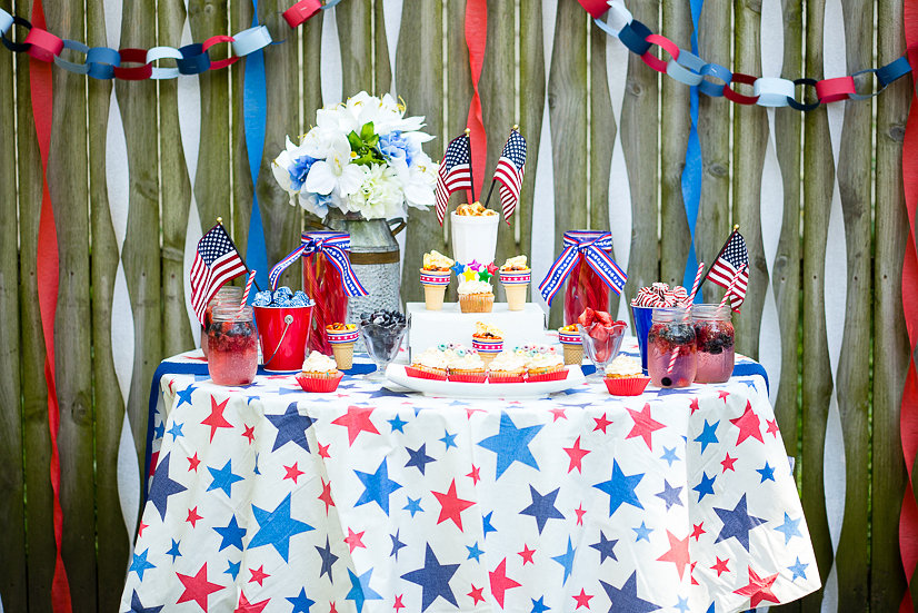 Olympics Party Tablescape